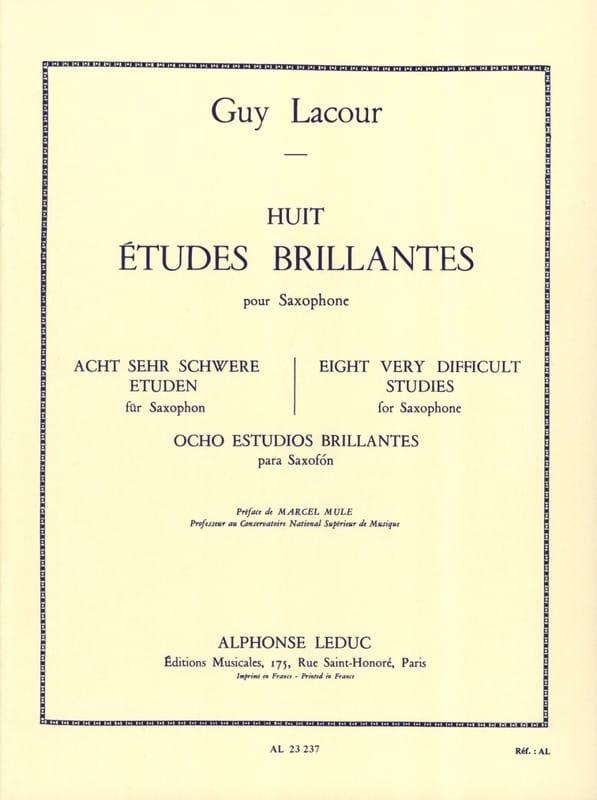 8 Etudes Brillantes - Guy Lacour - Partition - laflutedepan.com