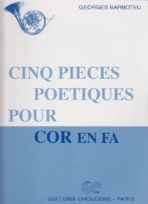 5 Pièces Poètiques - Georges Barboteu - Partition - laflutedepan.com