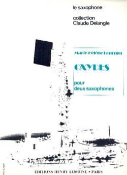 Oxydes Marie-Hélène Fournier Partition Saxophone - laflutedepan