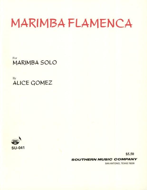 Marimba Flamenca - Alice Gomez - Partition - laflutedepan.com