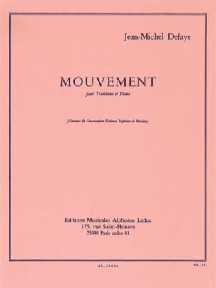 Mouvement Jean-Michel Defaye Partition Trombone - laflutedepan