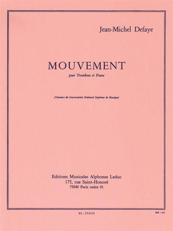 Mouvement - Jean-Michel Defaye - Partition - laflutedepan.com