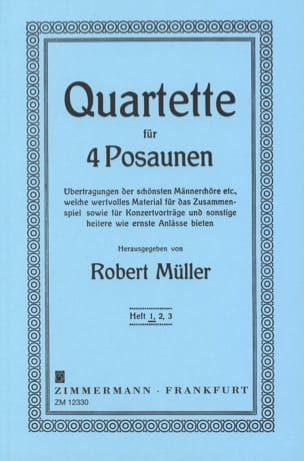 Quartette Volume 1 Robert Müller Partition Trombone - laflutedepan
