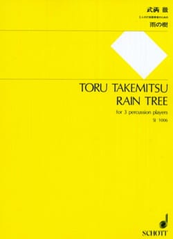 Rain Tree TAKEMITSU Partition Ensemble de percussions - laflutedepan