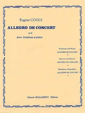 Allegro de Concert Opus 81 Eugène Cools Partition laflutedepan