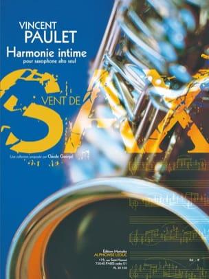 Harmonie Intime Vincent Paulet Partition Saxophone - laflutedepan