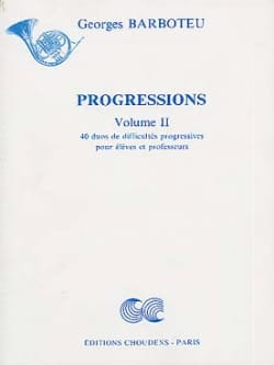 Progressions Volume 2 Georges Barboteu Partition Cor - laflutedepan