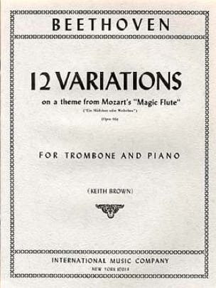 12 Variations Mozart Magic Flute Opus 66 BEETHOVEN laflutedepan