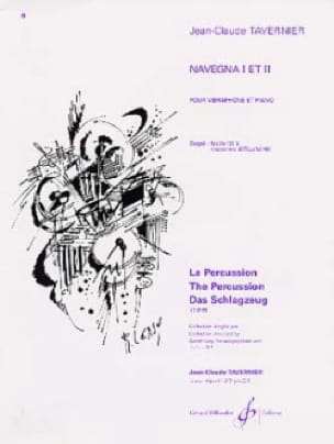 Navegna 1 Et 2 - TAVERNIER - Partition - Vibraphone - laflutedepan.com