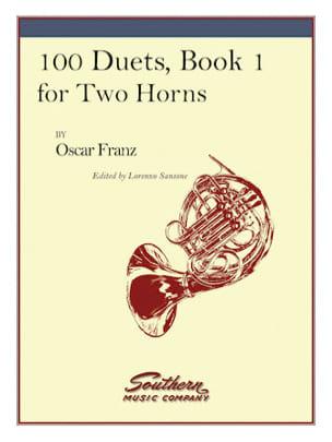100 Duets Volume 1 - Oskar Franz - Partition - Cor - laflutedepan.com