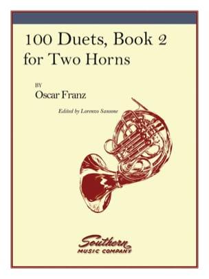 100 Duets Volume 2 Oskar Franz Partition Cor - laflutedepan
