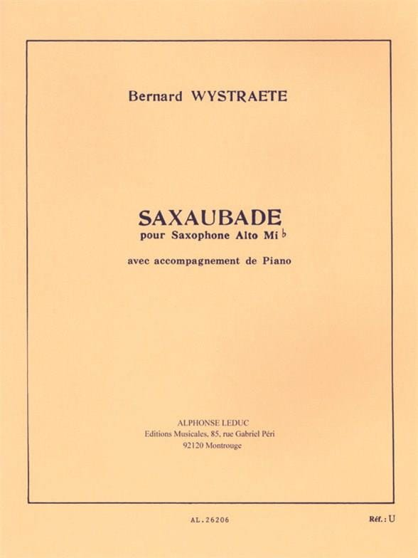 Saxaubade - Bernard Wystraete - Partition - laflutedepan.com