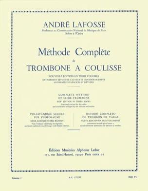 Méthode de Trombone A Coulisse Volume 1 André Lafosse laflutedepan