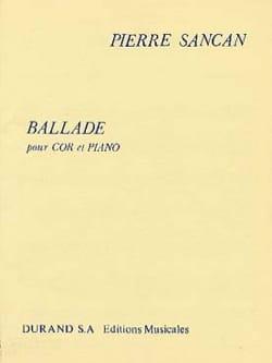 Ballade Pierre Sancan Partition Cor - laflutedepan