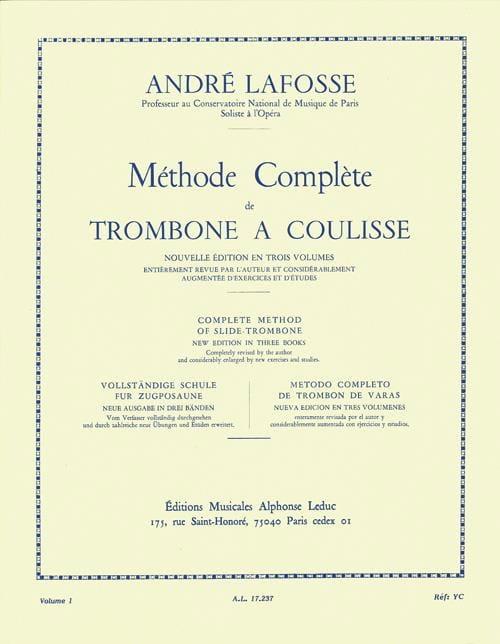 Méthode de Trombone A Coulisse Volume 1 - laflutedepan.com