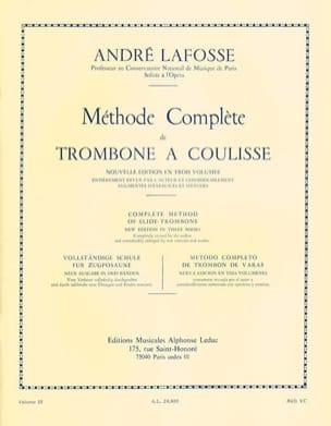 Méthode de Trombone A Coulisse Volume 3 André Lafosse laflutedepan