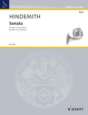 Sonata 1939 HINDEMITH Partition Cor - laflutedepan
