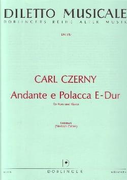 Andante E Polacca E-Dur CZERNY Partition Cor - laflutedepan