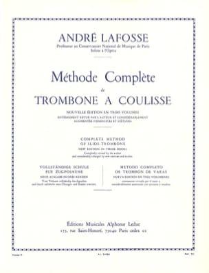 Méthode de Trombone A Coulisse Volume 2 André Lafosse laflutedepan