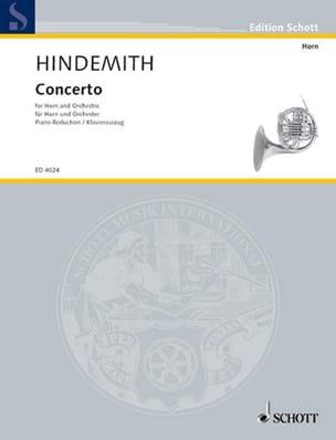 Concerto HINDEMITH Partition Cor - laflutedepan