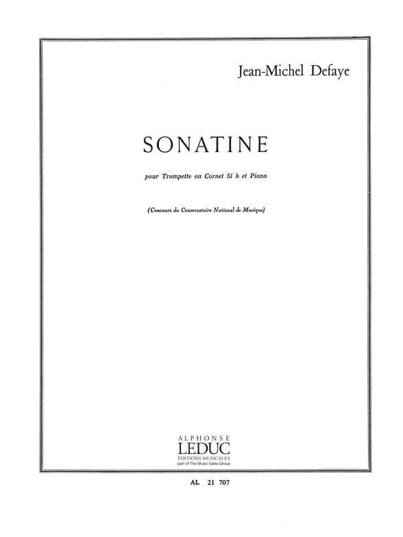 Sonatine - Jean-Michel Defaye - Partition - laflutedepan.com