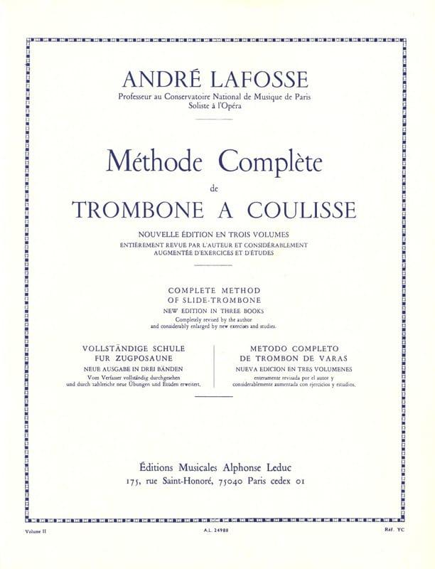 Méthode de Trombone A Coulisse Volume 2 - laflutedepan.com
