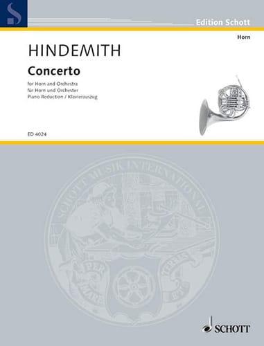 Concerto - HINDEMITH - Partition - Cor - laflutedepan.com