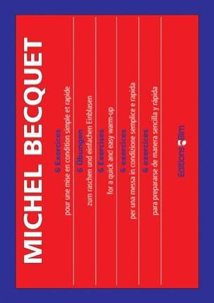 6 Exercices Michel Becquet Partition Trombone - laflutedepan