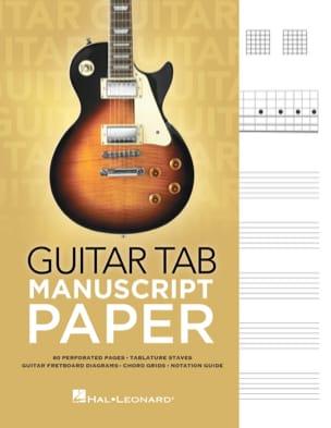 Cahier tablature spécial guitare Cahier de Musique Papier laflutedepan
