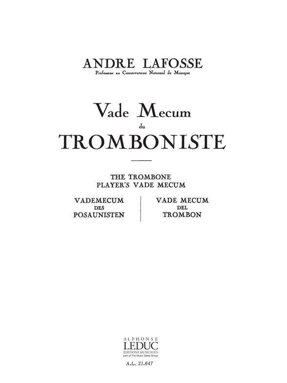 Vade Mecum du Tromboniste - André Lafosse - laflutedepan.com
