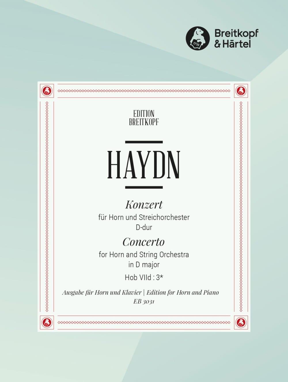 Concerto pour cor n° 1 en ré Majeur - HAYDN - laflutedepan.com