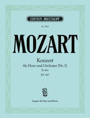 Konzert Nr. 3 Es-Dur K.V. 447 MOZART Partition Cor - laflutedepan
