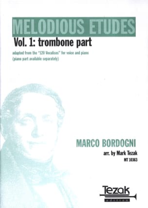 Melodious Etudes, The Complete Book Of Vocalises Volume 1 - Trombone laflutedepan