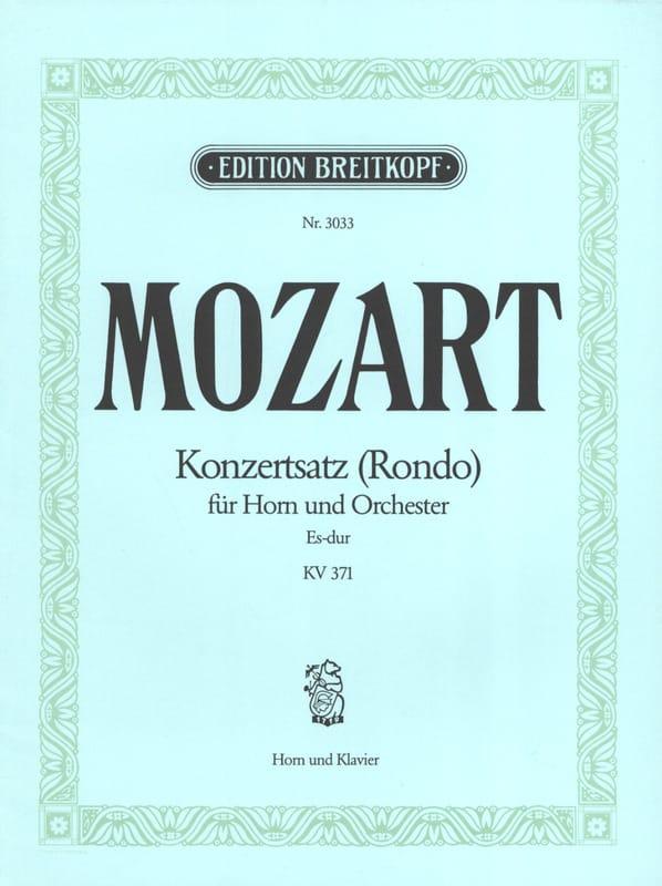 Konzertsatz Rondo Es-Dur. KV 371 - MOZART - laflutedepan.com