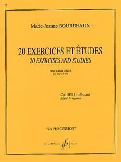 20 Exercices Et Etudes Cahier 1 Marie-Jeanne Bourdeaux laflutedepan