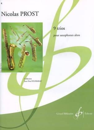 9 Trios Nicolas Prost Partition Saxophone - laflutedepan