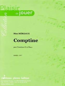 Comptine Max Méreaux Partition Trombone - laflutedepan