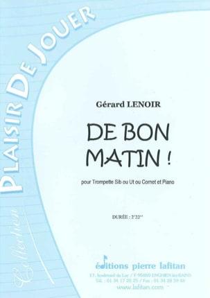 De Bon Matin Gérard Lenoir Partition Trompette - laflutedepan