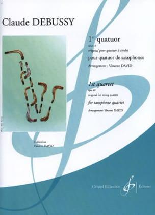 1er Quatuor Opus 10 DEBUSSY Partition Saxophone - laflutedepan