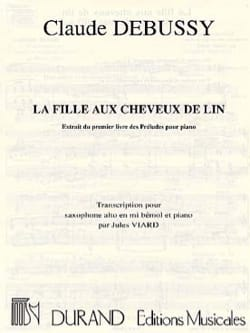 La Fille Aux Cheveux de Lin DEBUSSY Partition Saxophone - laflutedepan