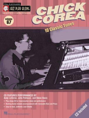 Jazz play-along volume 67 - Chick Corea Chick Corea laflutedepan