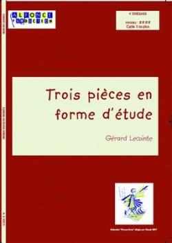 Trois Pièces En Forme D' Etude Gérard Lecointe Partition laflutedepan