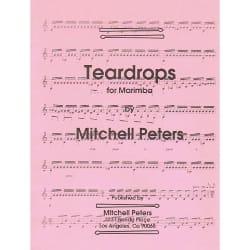 Teardrops For Marimba Mitchell Peters Partition Marimba - laflutedepan