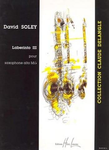 Laberinto 3 - David Soley - Partition - Saxophone - laflutedepan.com