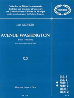 Avenue Washington Jean Sichler Partition Trombone - laflutedepan