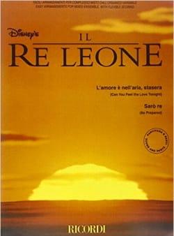 Il Re Leone le Roi Lion DISNEY Partition ENSEMBLES - laflutedepan