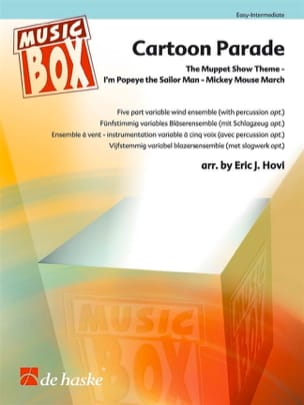 Cartoon Parade - Music Box Partition ENSEMBLES - laflutedepan