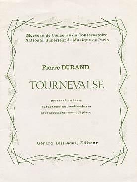 Tournevalse Pierre Durand Partition Tuba - laflutedepan
