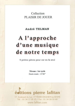 André Telman - Approaching a music of our time - 9 Small Pieces - Partition - di-arezzo.co.uk