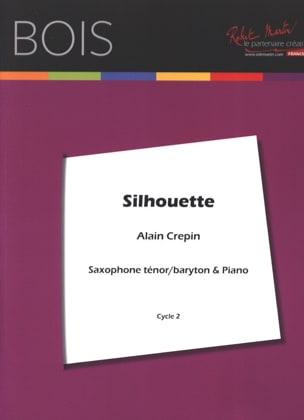 Silhouette Alain Crepin Partition Saxophone - laflutedepan